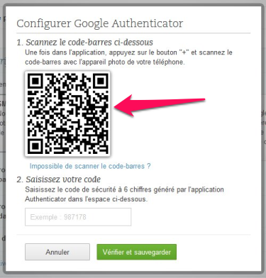 QR-Code Google Authenticator