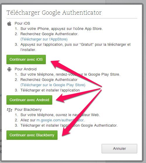Télécharger Google Authenticator